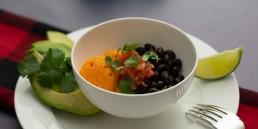 Sweet Potato, Black Bean and Avocado Bowl