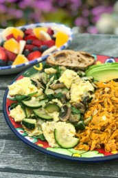 Veggie Scramble with Sweet Potato Hash