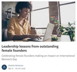 Avanta Medium Article - Female Founders